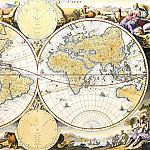Nicolaes Visscher – World map, Antique world maps HQ