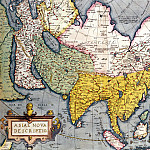 Claes Jansz – Antique Map of Asia, Antique world maps HQ