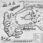 Jacques Lagniet - Plan Orbetello, 1646, Antique world maps HQ