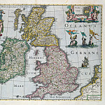 Map of Britain, 1661, Antique world maps HQ