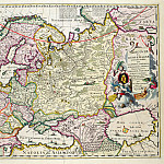 Antique world maps HQ - Nicolaes Visscher - Map of Asia Minor showing Norway, Sweden, Denmark, Lapland, Poland, Turkey, Russia and the Moscow region, c.1626