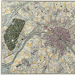 Antique world maps HQ - Map of Paris and its Environs, 1740