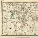Antique world maps HQ - Aquila and Antinous, Scutum Sobieski, Taurus Poniatowski, Sagitta, Vulpecula and Anser, Delphinus