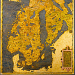 Map of Scandinavia, Antique world maps HQ
