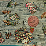 Olaus Magnus - Carta Marina, 1539, Section D: Western Islands, Antique world maps HQ