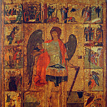 Orthodox Icons - Andrei Rublev (1360-е - 1430) -- Архангел Михаил с клеймами