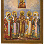 Икона Божией Матери Смоленская и пять святых, Orthodox Icons