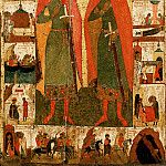 Orthodox Icons - Feofan Grek (ок.1340 - ок.1410) -- Святые Борис и Глеб с житием
