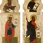 Orthodox Icons - Две панели из иконостаса с праотцами Авелем и Ноем и пророками Исайей и Захарией