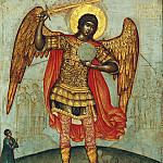 Orthodox Icons - Archangel Michael, trampling the devil (Simon Ushakov)