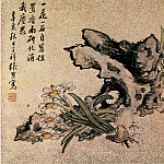Chinese artists of the Middle Ages - Ren Xiong [张熊 - 花卉图(之一、二)]