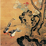 Chinese artists of the Middle Ages - Lu Ji [吕纪 - 桂菊山禽图]