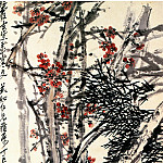 Chinese artists of the Middle Ages - Wu Changshuo [吴昌硕 - 松梅图]