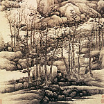 Chinese artists of the Middle Ages - Gong Xian [龚贤 - 木叶丹黄图]