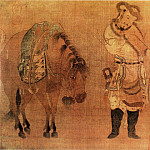 Chinese artists of the Middle Ages - Zhao Burma austere [赵伯马肃 - 番骑猎归图]