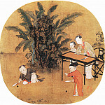 Chinese artists of the Middle Ages - Unknown [佚名 - 蕉荫击球图]