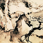 Chinese artists of the Middle Ages - Gao Fenghan [高凤翰 - 指画山水花卉图]
