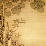 Chinese artists of the Middle Ages - Leng Mei [冷枚 - 梧桐双兔图]