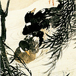 Chinese artists of the Middle Ages - Ren Xiong [任熊 - 柳鸭图]