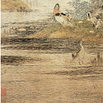 Chinese artists of the Middle Ages - Qiu Ying [仇英 - 沙汀鸳鸯图]