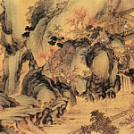 Chinese artists of the Middle Ages - Shen Zongqian [沈宗骞 - 山水图(之一、二)]