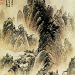 Chinese artists of the Middle Ages - Huang Xiangjian [黄向坚 - 点苍山色图]