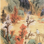 Chinese artists of the Middle Ages - Lan Ying [蓝瑛 - 白云红树图]