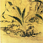 Chinese artists of the Middle Ages - Chen Hong Shou [陈洪绶 - 竹石萱草图]