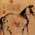 Chinese artists of the Middle Ages - Li Gonglin [李公麟 - 五马图]