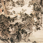 Chinese artists of the Middle Ages - Tang Yi Fen [汤贻汾 - 秋坪闲话图]