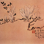 Chinese artists of the Middle Ages - Wang Shishen [汪士慎 - 花卉图(之—、二)]