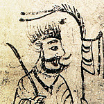 Chinese artists of the Middle Ages - Unknown [佚名 - 门卫图(之一、二)]