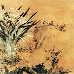 Chinese artists of the Middle Ages - Jiang Hong [姜泓 - 水仙茶梅图]