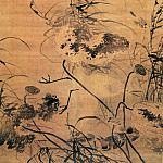 Chinese artists of the Middle Ages - Lu Ji [吕纪 - 残荷鹰鹭图]