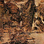 Chinese artists of the Middle Ages - Kun Can [髡残 - 层岩叠壑图]