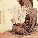 Chinese artists of the Middle Ages - Wang Wu [王武 - 水仙柏石图]