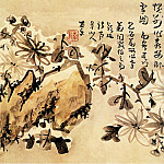 Chinese artists of the Middle Ages - Gao Fenghan [高凤翰 - 雪菊图]