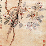 Chinese artists of the Middle Ages - Xi Gang [奚冈 - 海棠玉兰图]