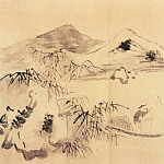 Chinese artists of the Middle Ages - Pu He [普荷 - 山水图(之一、二)]