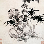 Chinese artists of the Middle Ages - Wang Gouxiang [王彀祥 - 翠竹黄花图]