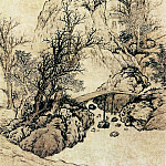 Chinese artists of the Middle Ages - Fan Qi [樊圻 - 秋山萧寺图]