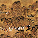 Chinese artists of the Middle Ages - Lang Shining [郎世宁 - 弘历哨鹿图]