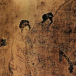 Chinese artists of the Middle Ages - Zhou Wen Ju [周文矩 - 宫中图]