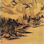 Chinese artists of the Middle Ages - Yan Shengsun [严绳孙 - 山径平岗图]