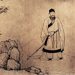 Chinese artists of the Middle Ages - Wang Yini Zan [王绎倪瓒 - 杨竹西小像]