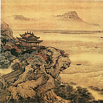 Chinese artists of the Middle Ages - Yuan Jiang [袁江 - 观潮图]