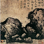 Chinese artists of the Middle Ages - Wang Meng [王蒙 - 竹石图]