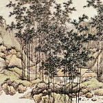 Chinese artists of the Middle Ages - Fang Cong [方琮 - 溪桥深翠图]