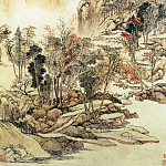 Chinese artists of the Middle Ages - Wang Yun [王晕 - 虞山枫林图]