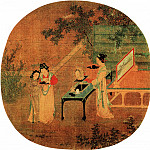 Chinese artists of the Middle Ages - Wang Shen [王诜 - 绣栊晓镜图]